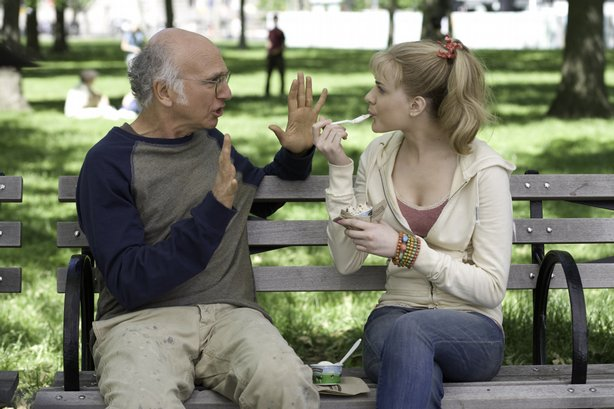 "Larry David and Evan Rachel Wood in Woody Allen's ""Whatever Works"""