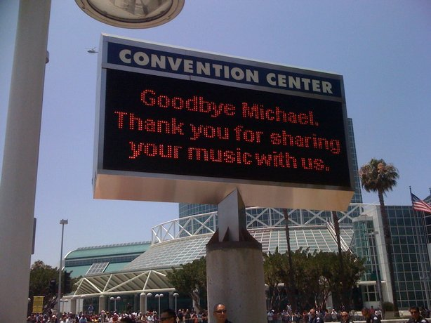 The Michael Jackson Memorial at Staples Center
