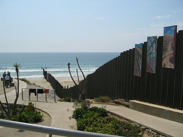 Friendship Park is located above the beach along the U.S. Mexico border.