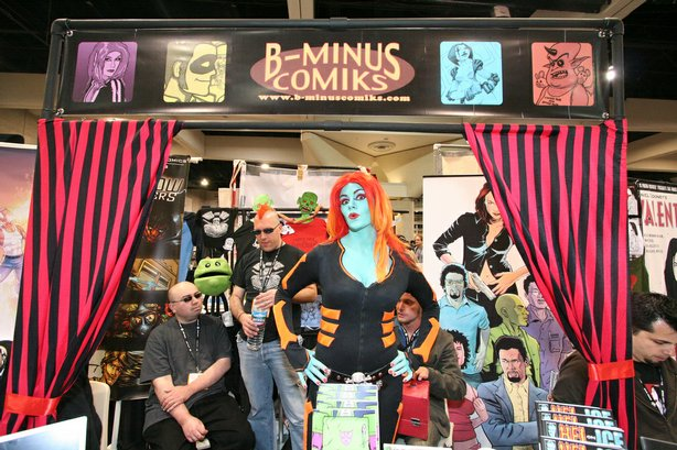 B Minus Comiks Booth at Comic-Con International, 2008