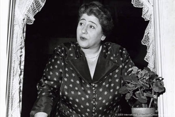 "Gertrude Berg as her alter ego Molly Goldberg in ""Yoo-Hoo, Mrs. Goldberg"""