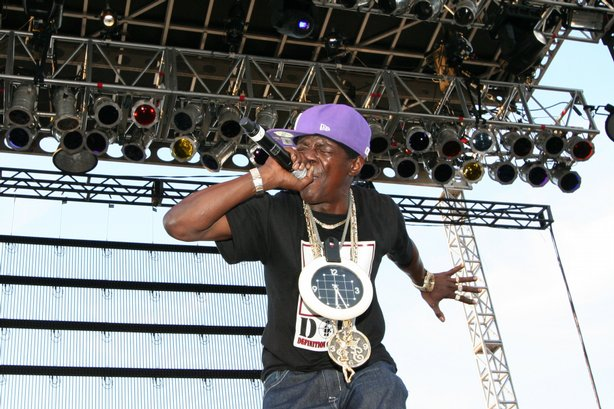 Public Enemy&#39;s Flavor Flav still workin&#39; it after all these years.  Street Scene, 2009.  