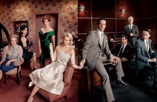 The cast of AMC's hit television show Mad Men.