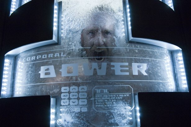 "Ben Foster waking from hyper-sleep in ""Pandorum"""