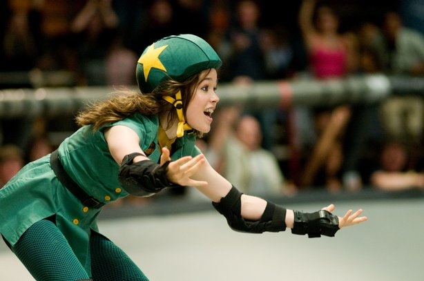 "Ellen Page finds herself in roller derby in ""Whip It"""