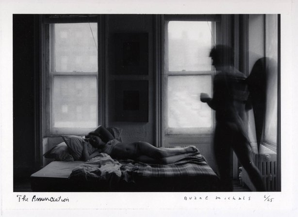 """The Annunciation"" by seminal photographer, Duane Michals."