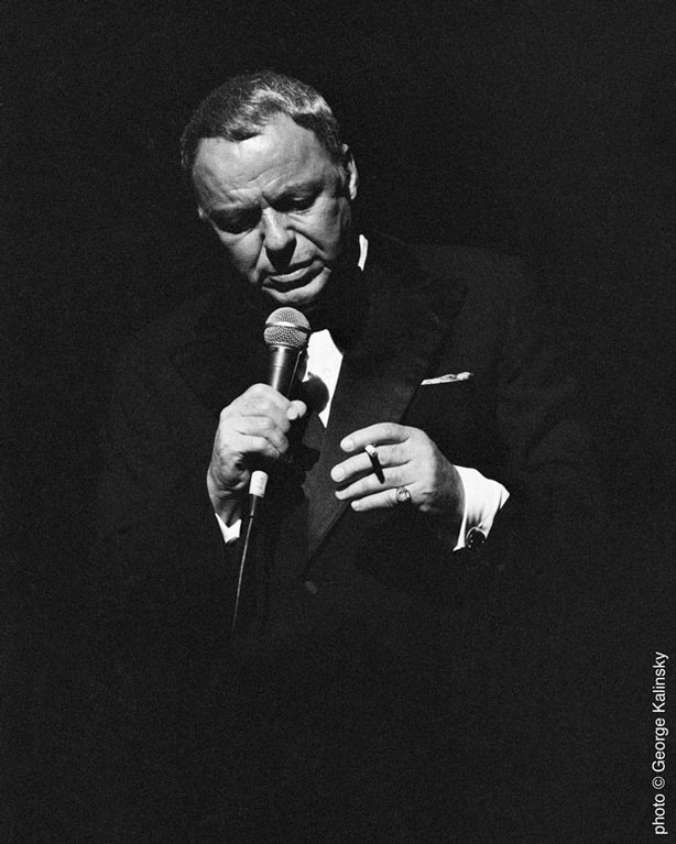 Frank Sinatra performs at Carnegie Hall, June 1980.