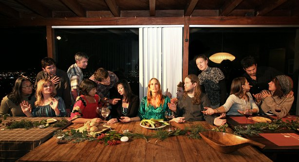 "My dinner guests as Leonardo da Vinci's ""The Last Supper."""