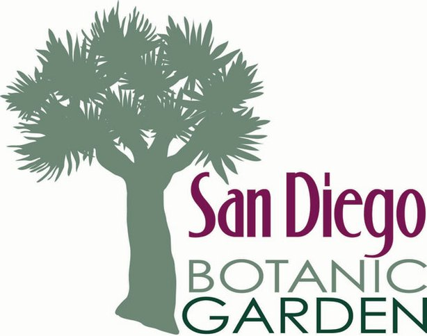 Graphic logo for the San Diego Botanical Garden, located at 230 Quail Gardens Drive, Encinitas, CA.