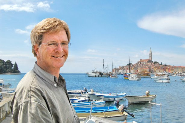 Rick in Rovinj, Croatia, his favorite stop between Dubrovnik and Venice.