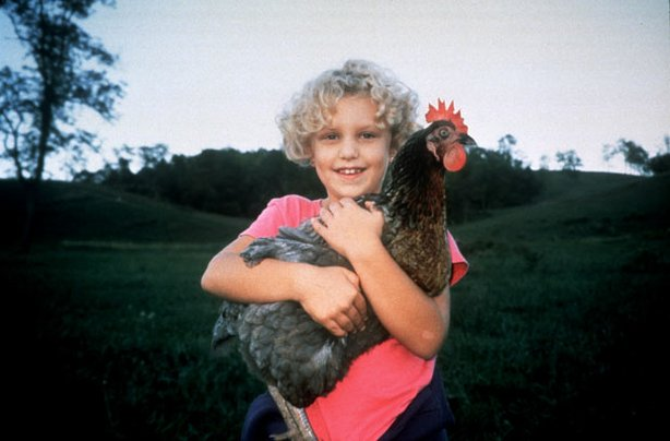 "Received with critical acclaim at the 2001 Sundance Film Festival, ""The Natural History Of The Chicken"" focuses on ordinary people and their extraordinary chickens. Pictured: Emily Simpson and chicken."