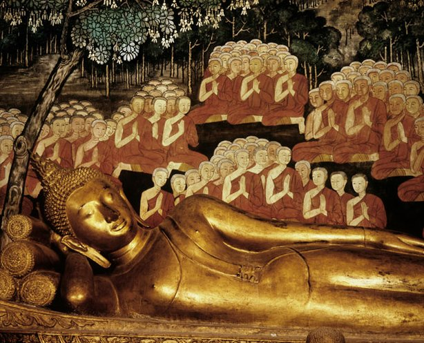 Reclining Buddha at Wat Boworn, Thailand.