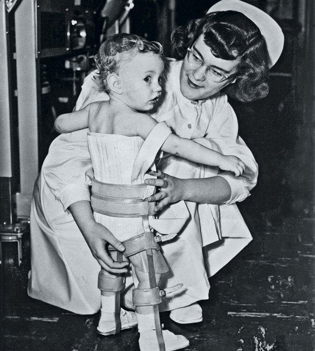 Nurse and child with polio. This program is the story of the largest public health experiment in American history  the effort to eradicate polio, one of the 20th-centurys most dreaded diseases.