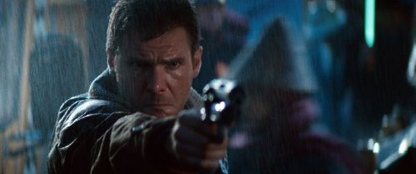 "Harrison Ford stars as Deckard in Ridley Scott's ""Blade Runner."""