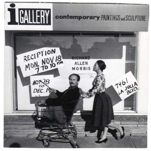 "I Gallery proprietor Marlene Williams pushes her ""product,"" painter