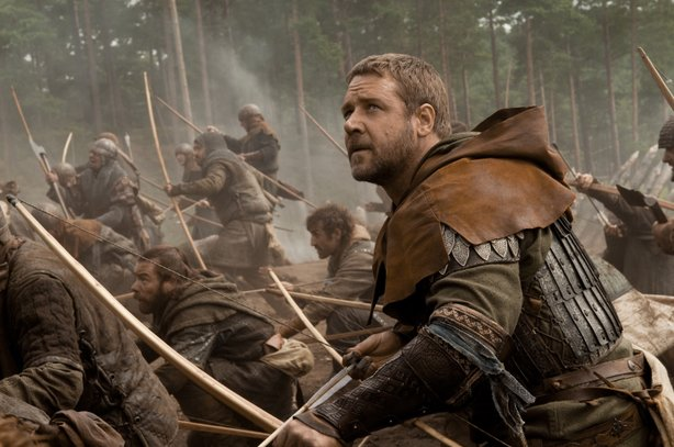 "Russell Crowe stars as ""Robin Hood"" in this latest retelling of the classic legend of the outlaw and his Merry Men."