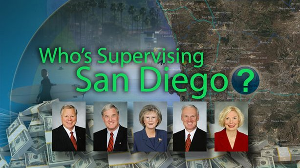 "Title graphic for the Envision San Diego special ""Who's Supervising San Diego?"""