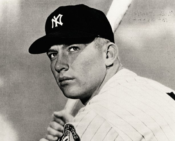 Mickey Mantle at bat