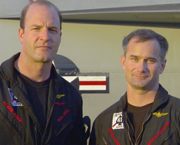 "Dell Bull served as the executive officer and an F-18 pilot, and David Fravor served as commanding officer and an F-18 pilot for Strike Fighter Squadron 41 (VFA-41), also known as ""The Black Aces,"" during the deployment featured in ""Carrier."""