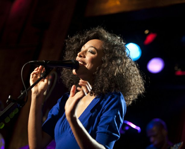 The second season of LIVE FROM THE ARTISTS DEN features a performance by Corinne Bailey Rae (pictured on stage) recorded December 7, 2009, Hiro Ballroom, New York, NY.