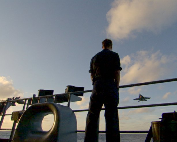 "A sailor aboard the ""USS Nimitz."" ""Carrier,"" a 10-part series filmed aboard the USS Nimitz , is a character-driven immersion in the high-stakes world of a nuclear aircraft carrier."