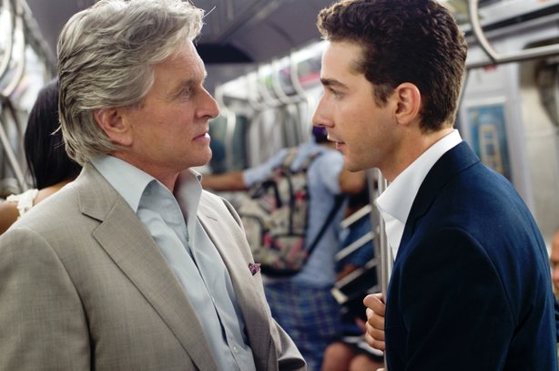 "Michael Douglas reprises his role as Gordon Gekko opposite Shia LaBeouf in ""Wall Street: Money Never Sleeps."""