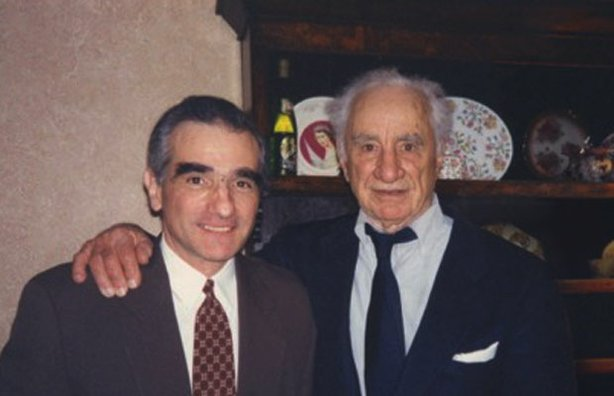 Martin Scorsese (L) with Elia Kazan