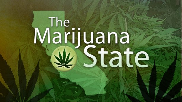 "Title graphic for Envision San Diego's television documentary, ""The Marijuana State."""