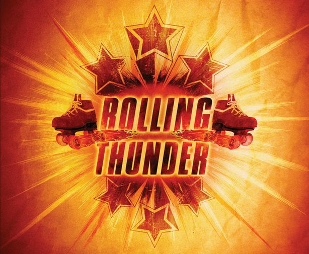 "Title graphic for ""Roller Derby Chronicles: Rolling Thunder"""