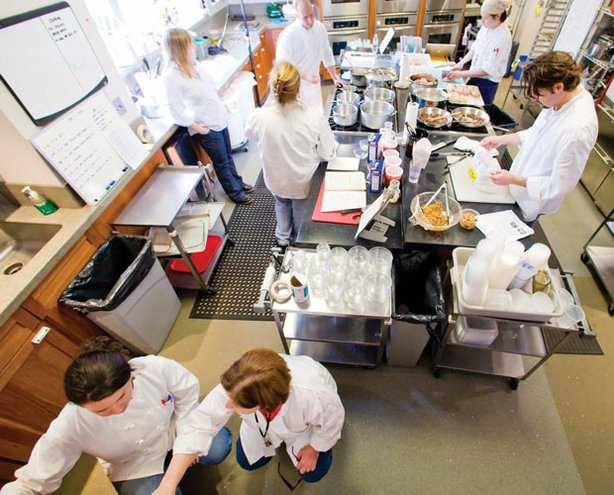 Photo of the test kitchen team exploring delicious recipes and ingredients, new cooking technologies and the science of food to help home chefs find success in the kitchen.