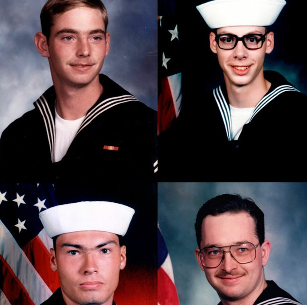 "The ""Norfolk Four,"" clockwise from top left: Eric Wilson, Joe Dick, Danial Williams and Derek Tice. Why would four innocent men confess to a brutal crime they didn't commit?"