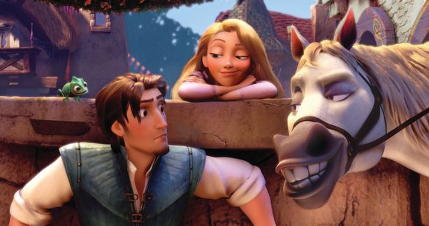 "The horse is the best thing in the Disney animated fairy tale ""Tangled."""