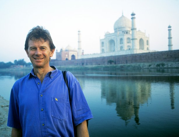 Michael Wood at the Taj Mahal, as his trek in search of Shangri-La begins.