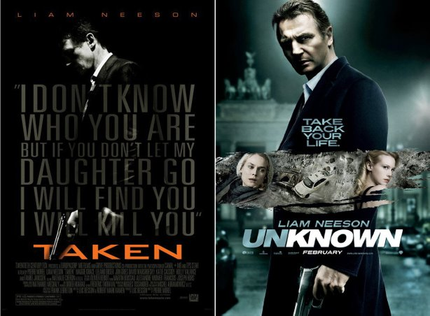 "Even the advertising for ""Unknown"" resembles that of ""Taken."""