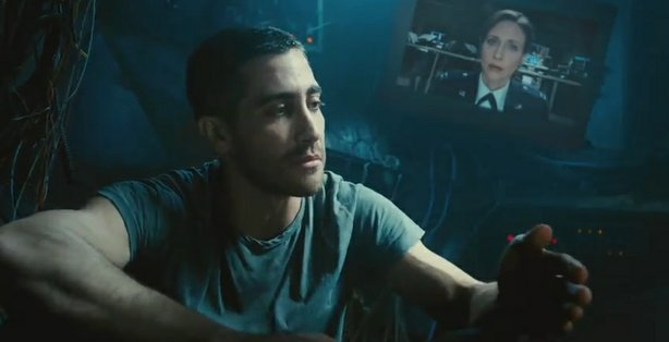"Jake Gyllenhaal in the upcoming film ""Source Code."""