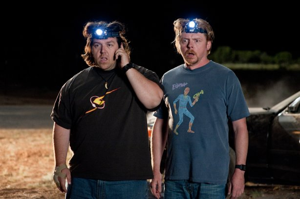 "Nick Frost and Simon Pegg on a road trip across America in ""Paul."""