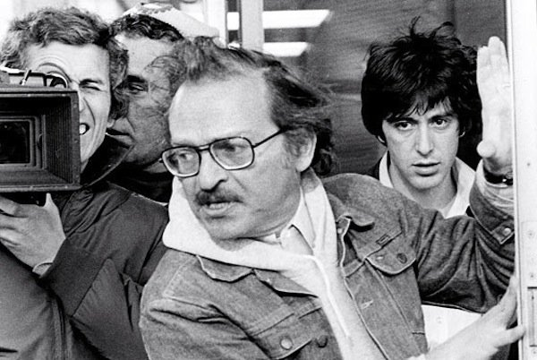 "Director Sidney Lumet where he was most at home, on the streets of New York for ""Dog Day Afternoon,"" starring Al Pacino."