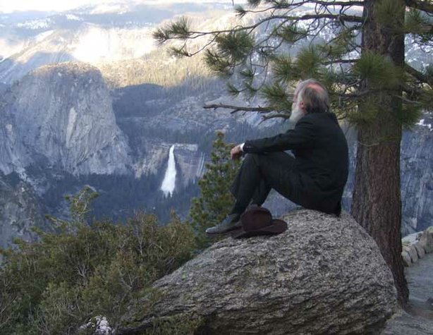 John Muir, portrayed by Howard Weamer, in Yosemite.