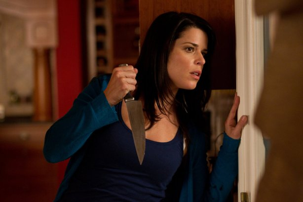 "Poor Sidney (Neve Campbell) is being stalked yet again in ""Scream 4."""