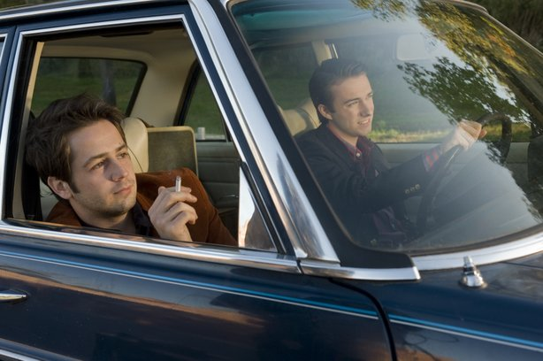 "Michael Angarano and Reece Thompson go on a road trip in ""Ceremony."""