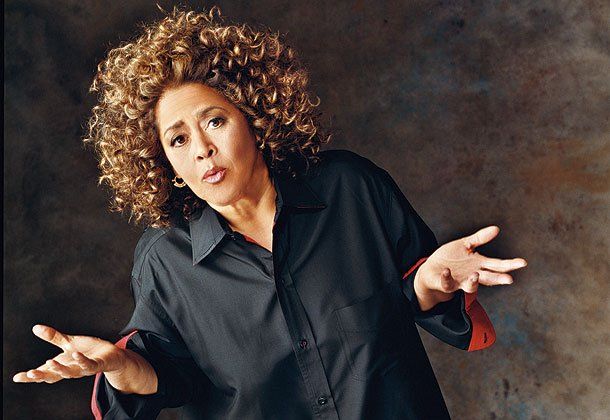 "Actress, playwright and journalist Anna Deavere Smith performs her one woman play ""Let Me Down Easy"" at the Lyceum Theater in San Diego."