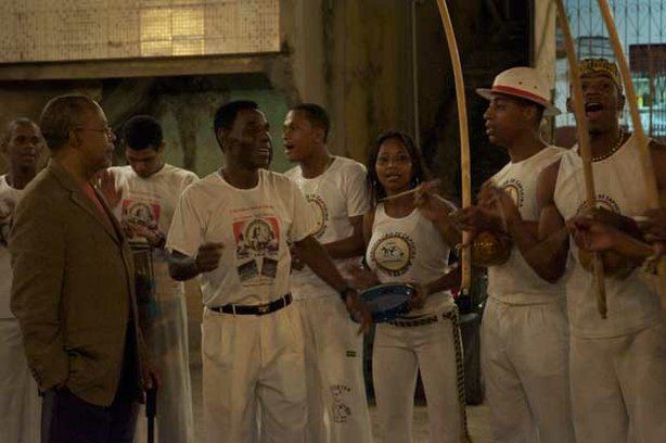 Professor Henry Louis Gates Jr. with capoeira group, Brazil. 