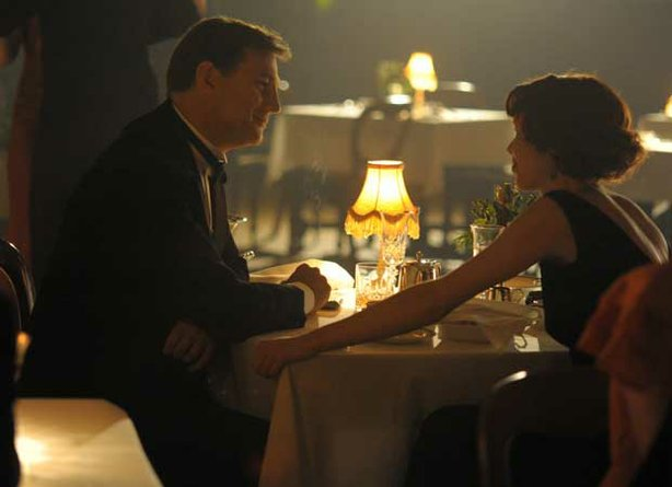 "David Morrissey as Robert Carne and Anna Maxwell Martin as Sarah Burton in the three-part miniseries ""South Riding."""