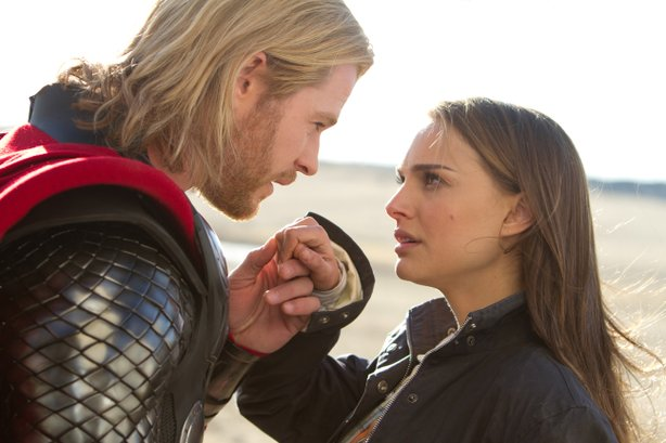 "Chris Hemsworth and Natalie Portman star in ""Thor"" from Marvel Entertainment."