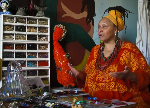 Baltimore bead artist Joyce J. Scott.