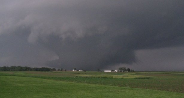 A tornado moves across western Iowa on June 5, 2010.