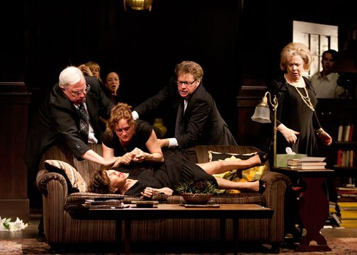 The cast of Tracy Letts&#39; Pulitzer Prize-winning play &quot;August: Osage County,&quot; directed by Sam Gold, at The Old Globe Theatre. 