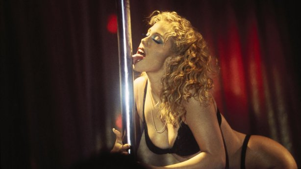 Elizabeth Berkley stars as a stripper... um, I mean dancer in Paul Verhoeven&#39;s 1995 &quot;Showgirls.&quot;