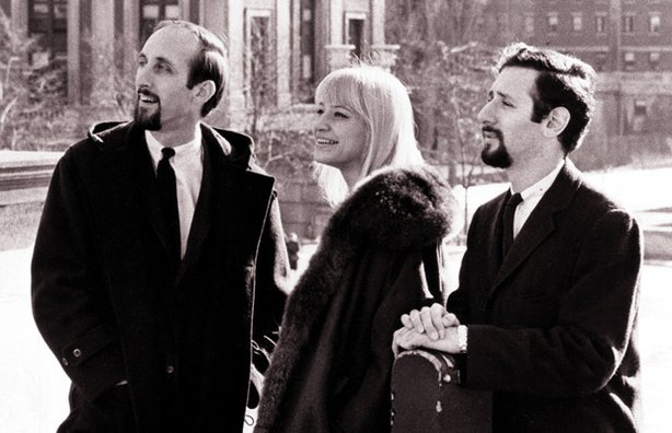 Noel Paul Stookey, Mary Travers and Peter Yarrow from the trio Peter, Paul & Mary.