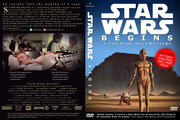 "Jamie Benning's fan doc ""STar Wars Begins."""